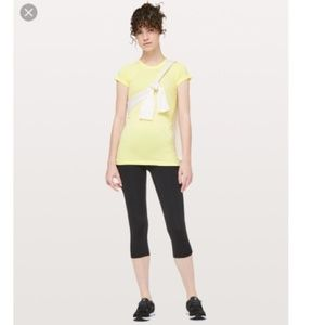 lululemon yellow swiftly tech short sleeve